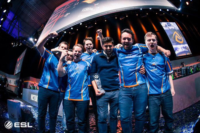 Rogue win the first $100k LAN at the Atlantic Showdown. Image credit: ESL