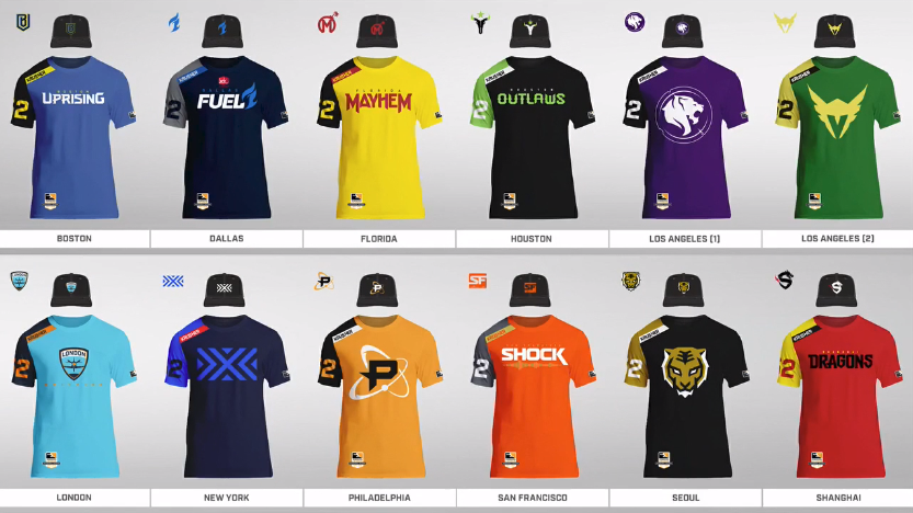 Overwatch League Jerseys and Hats